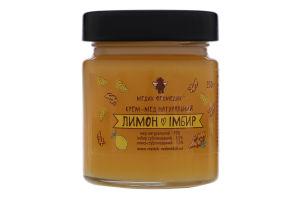 Крем-мед натуральный Лимон+Имбирь Медик Ведмедик с/б 250г