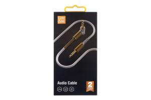 Кабель Audio 1.2м білий Luxe Cube 1шт
