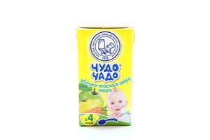 Пюре для детей от 4мес Яблоко-Морковь-Айва Чудо-Чадо т/п 135г