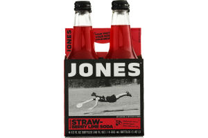 Jones Soda Strawberry Lime Flavor - 4 CT