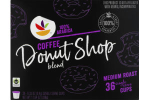 Ahold K-Cup Packs Coffee Donut Shop Blend - 36 CT