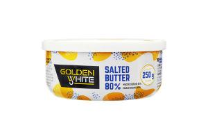 Масло 80% солоне вершкове Golden White ст 250г