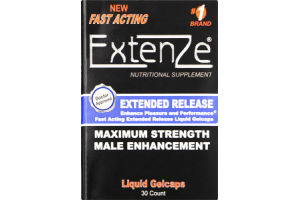 Extenze Maximum Strength Extended Release Male Enhancement Liquid Gelcaps - 30 CT