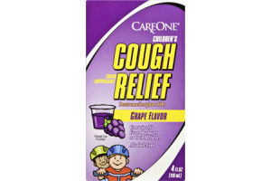 CareOne Children's Cough Relief Grape Flavor Cough Suppressant