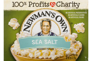 Newman's Own Microwave Popcorn Natural - 3 CT