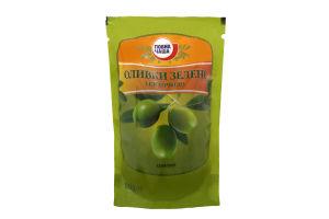 Оливки Повна Чаша зеленые с косточкой дой-пак
