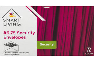 Smart Living #6.75 Security Envelopes - 72 CT