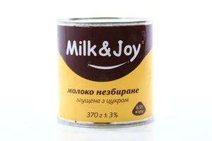 Молоко Milk & Joy згущене незбиране з цукром 370г