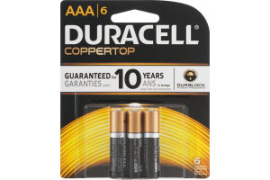 Duracell Coppertop AAA Batteries - 6 CT