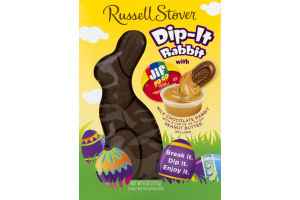 Russell Stover Dip-It Milk Chocolate Rabbit With Jif To Go Peanut Butter Cup