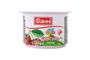 Йогурт 1.5% Вишня Фанні ст 115г