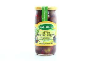 Оливки Kalimera мариновані з золотавими перчиками 350г