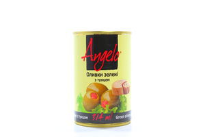 Оливки с тунцом Angelo ж/б 300г