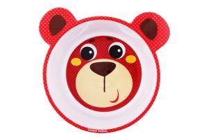 Миска детская с антискользящим покрытием №4/520_red Canpol babies 1шт