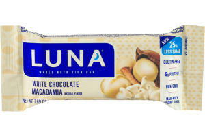 Luna Whole Nutrition Bar White Chocolate Macadamia