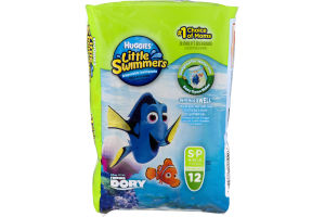 Huggies Little Swimmers Disposable Swimpants Disney S/P 16-26 LB - 12 CT