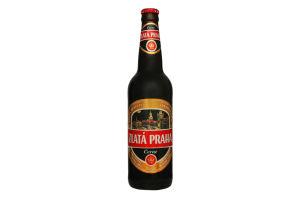 Пиво 0.5л 4.1% темное Zlata Praha Cerne бут