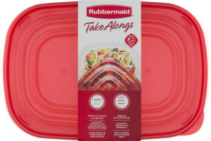 Rubbermaid Take Alongs Large Rectangles Containers - 2 CT