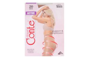 Колготы женские Conte Active Modelling 20den 3-M natural