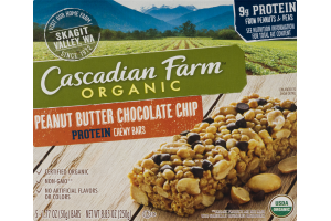 Cascadian Farm Organic Protein Chewy Bars Peanut Butter Chocolate Chip - 5 CT