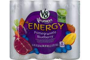 V8 V-Fusion +Energy Pomegranate Blueberry - 6 PK