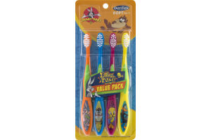 DenTek Looney Tunes Soft Value Pack Toothbrushes - 4 CT