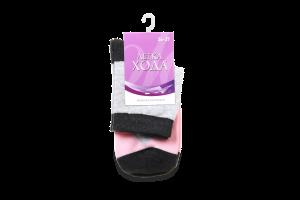 Шкарпетки жіночі Легка хода №5320 23 срібло меланж-рожевий