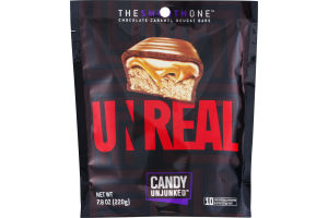 Unreal Candy Unjunked The Smooth One Chocolate Caramel Nougat Bars - 10 CT