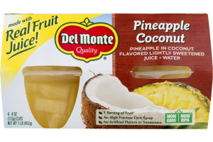 Del Monte Pineapple Coconut Cups - 4 CT