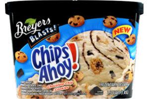 Breyers Blasts! Chips Ahoy! Chocolate Chip Cookies Frozen Dairy Dessert