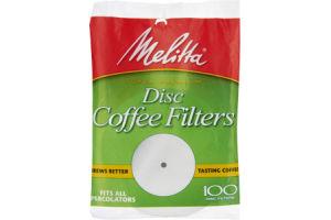 Melitta Super Premium Disc Coffee Filters - 100 CT