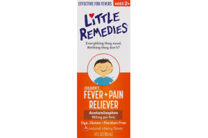 Little Remedies Children's Fever + Pain Reliever Cherry Flavor