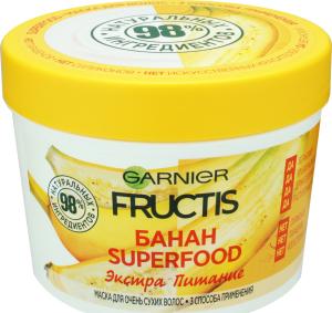 Маска для волос Банан Superfood Экстра питание Fructis Garnier 390мл ... 708eda2fdf19a