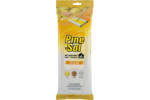 Pine-Sol Wet Floor Wipes Lemon Fresh - 12 CT