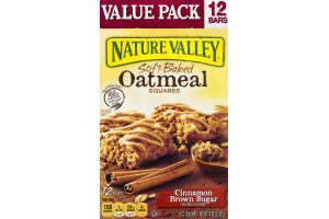 Nature Valley Soft-Baked Oatmeal Squares Cinnamon Brown Sugar - 12 CT
