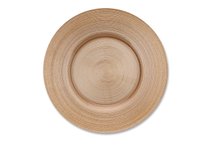 Тарелка ArdaCam Circle золотистая 21см