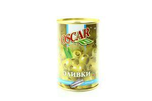 Оливки фаршированные анчоусом Oscar ж/б 300г