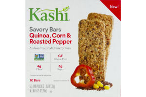 Kashi Savory Bars Quinoa, Corn & Roasted Pepper - 10 CT