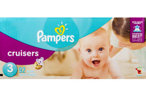 Pampers Cruisers Sesame Street Diapers Size 3 Super Pack (16-28 lb) - 92 CT