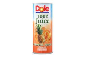 Сок ананасово-апельсиновый Dole ж/б 250мл
