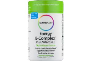 Rainbow Light Energy B-Complex Plus Vitamin C Dietary Supplement Tablets - 45 CT