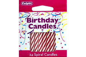 Culpitt Birthday Candles Numeral Candle Red - 24 CT