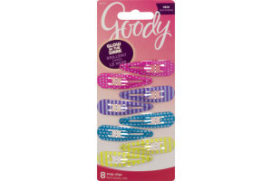 Goody Glow In The Dark Snap Clips - 8 CT