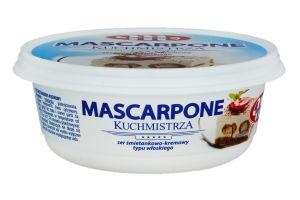 Сыр сливочный кремовый Mascarpone Kuchmistrza Mlekovita п/у 250г