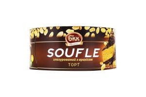 Торт глазурований з арахісом Soufle БКК к/у 450г