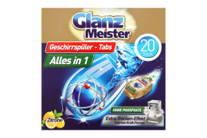 Таблетки для чищення посудомийної машини Glanz Meister 320г