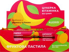 Пастила фруктовая абрикос-банан Конфета витаминка Alexis м/у 17г