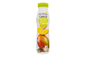 Йогурт 2% с наполнителем Манго-Лайм-Жасмин Смузи Молокія п/бут 290г