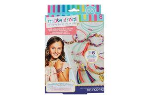 Набір для дітей від 8років для створення шарм-браслетів №MR1207 Золоте сяйво Make it Real 1шт