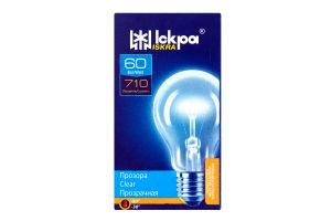 Лампа електрична прозора Іскра А55-230в 60вт Е27